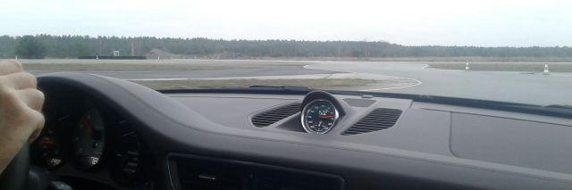 Blick aus den Cockpit